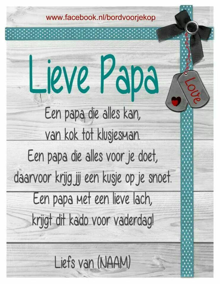 Beroemd Pin van Mariëlle Munten op school - Fathers day gifts, Mothers day @LU84