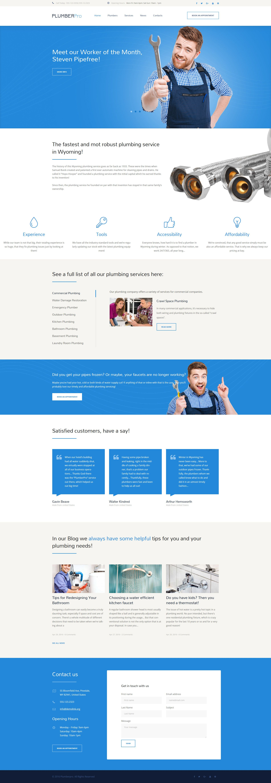 Plumbing Services Responsive Wordpress Theme Website Template Wordpress Theme Responsive Plumbing Logo