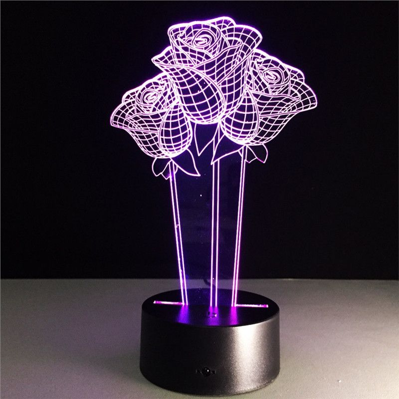 3d Lamp Visual Light Effect Touch Switch Remote Control Colors Changes Night Light In 2020 3d Led Night Light 3d Light Mood Light