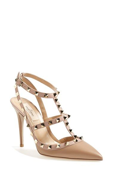 5b0ff7da87ef Valentino  Rockstud  T-Strap Pump available at  Nordstrom--feel free to buy  these for me  )