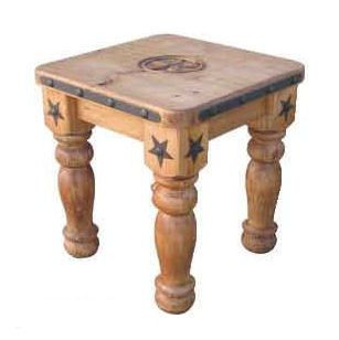 5 Leg Star End Table Great Western Furniture Company Rustic