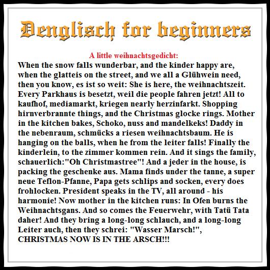 Lustige Kinder Weihnachtsgedichte.A Little Denglisch Weihnachtsgedicht When The Snow Falls Wunderbar