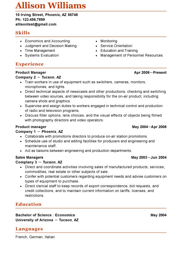 Pin By Functional Resume Template Online On Functional Resume