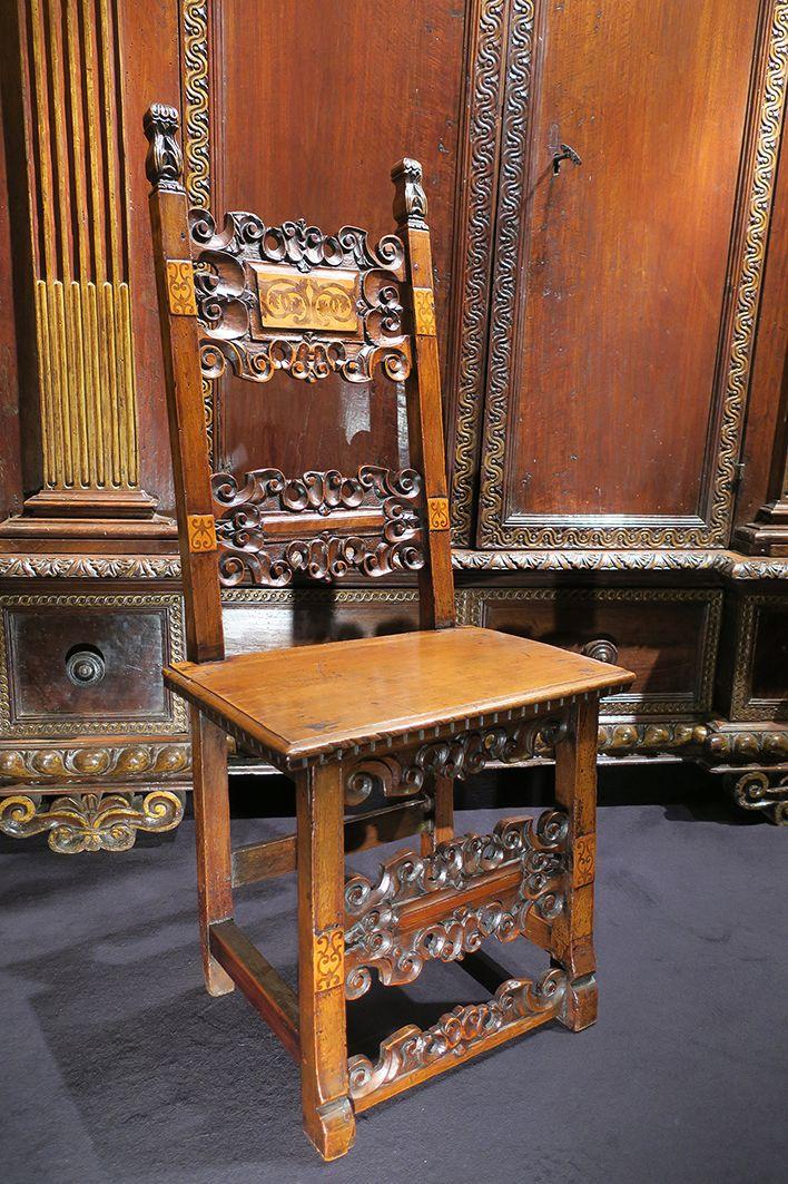 Chaise Italienne D Epoque Renaissance Toscane Fin Du 16e Siecle Mobilier De Salon Renaissance Renaissance Italienne