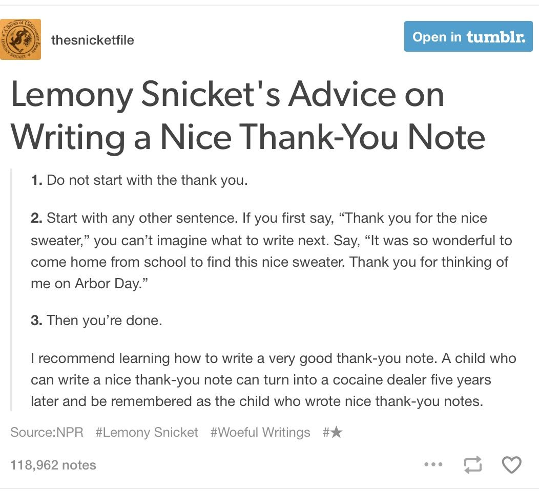 writing good thank you