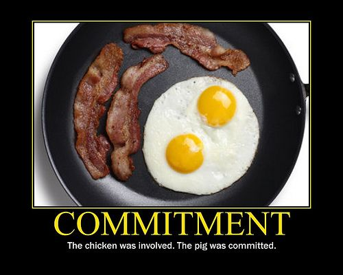 Chicken And The Pig Meme: Commitment Chicken Pig Bacon Eggs