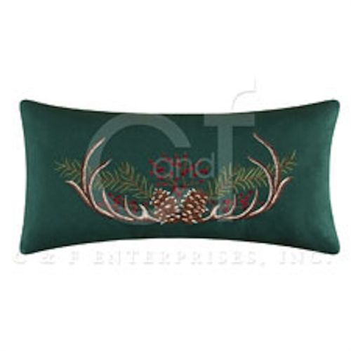Rustic Retreat Decorative Pillow by C & F-Green with Antlers