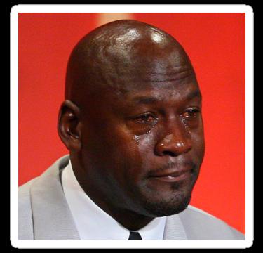 Michael Jordan Crying Meme Quot Stickers By Theteeshirtboy Redbubble Crying Meme Tattoo Memes Memes