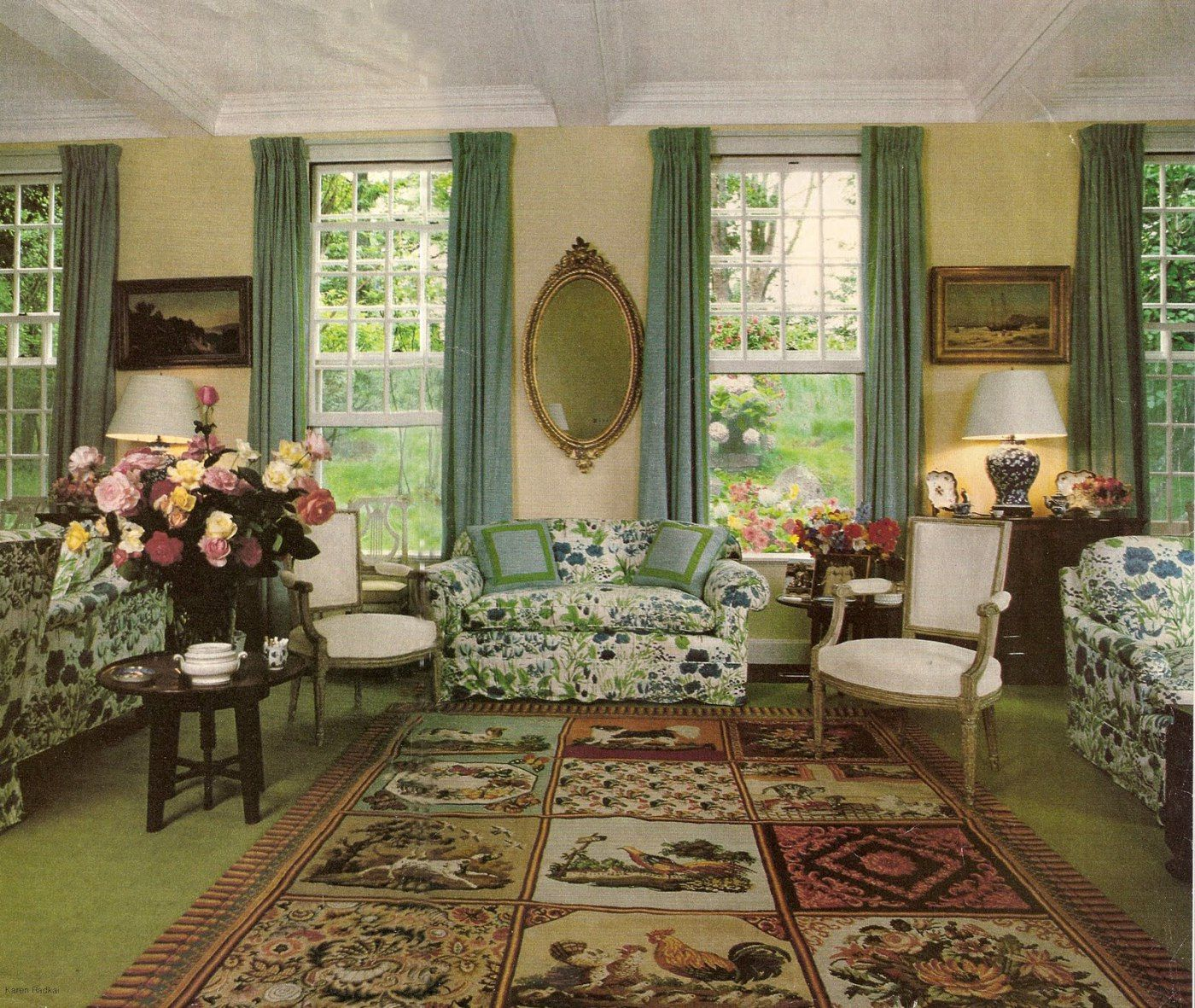 The Living Room At John And Brooke Astor's Maine Summer