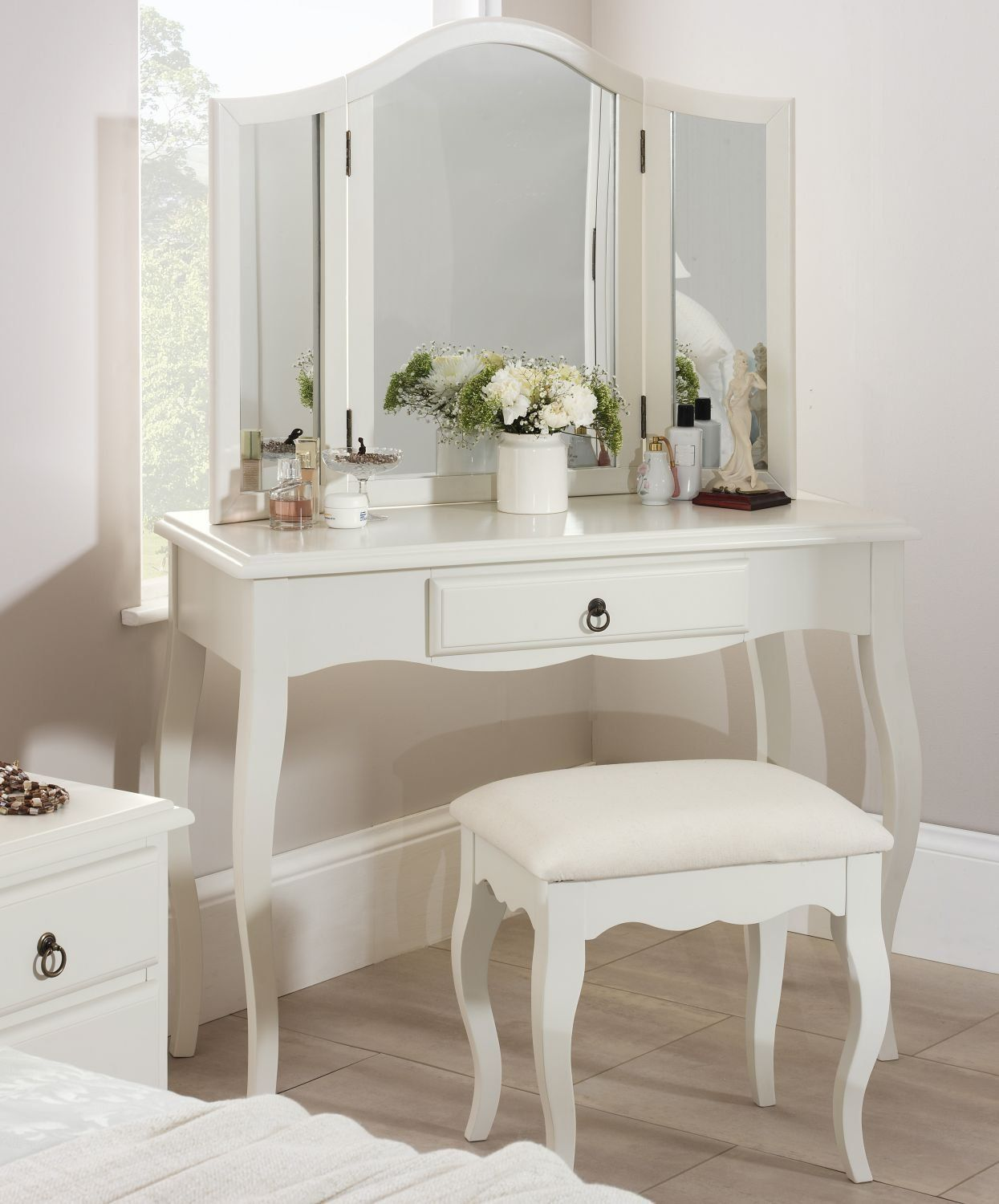 Good Romance Dressing Table Mirror, Large 3 Way Mirror, Assembled: Amazon.co.uk:  Kitchen U0026 Home
