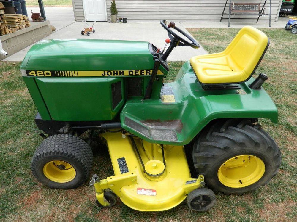 1987 John Deere 420 Lawn U0026 Garden Tractor, Great Condition