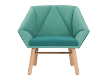 High Quality Facet Accent Chair, Mineral Blue And Emerald Green