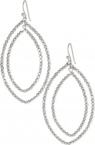 Silver or Gold Large Chandelier Earrings | Bardot Hoop Earring | Stella & Dot