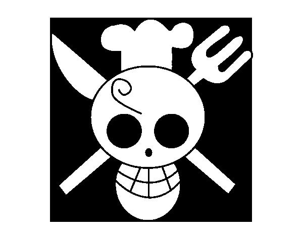 Sanji S Jolly Roger One Piece Coloring Pages Malvorlagen Vorlagen Malen