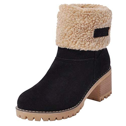 334af86b4f8d New SNIDEL Ankle Boots for Women Winter Snow Boots Suede Warm Cotton-Padded  Shoes Mid