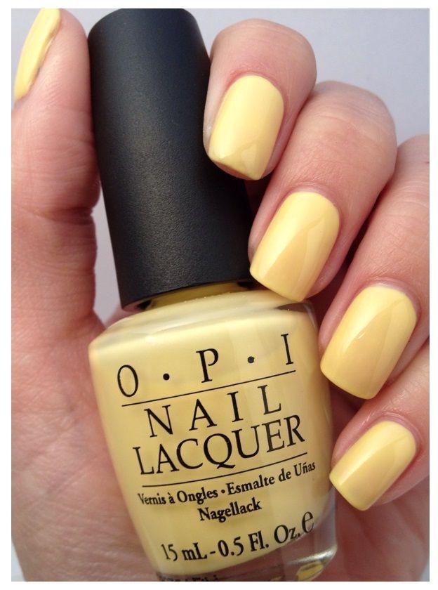 Opi pastel yellow dresses