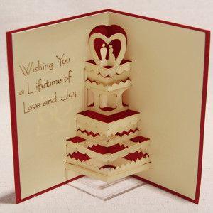 Best Designs Of Handmade Pop Up Wedding Card Handmade4cards Com Wedding Card Diy Wedding Cake Cards Wedding Cards