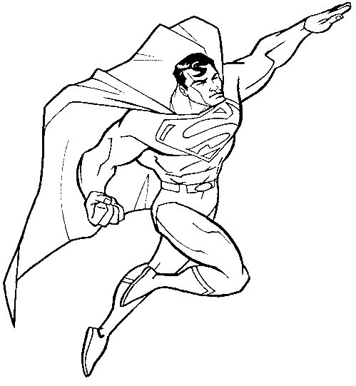 Turn Into Superman Coloring Pages