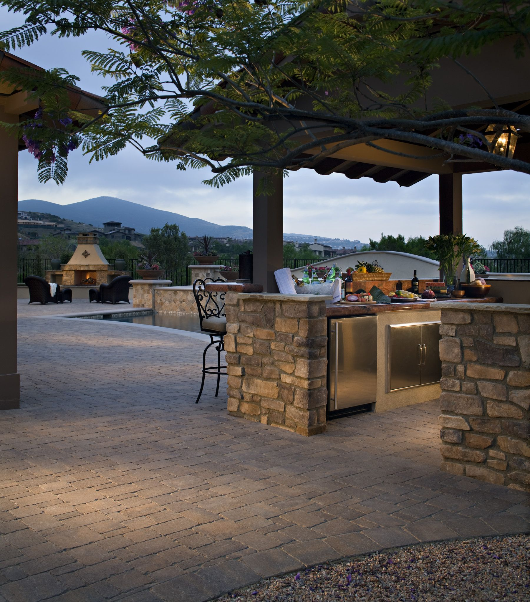 San Antonio Brick Patio Ideas: Backyard Covered Patios, Belgard Pavers