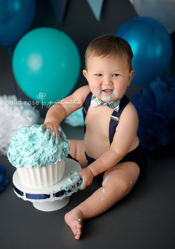 Boy Cake Smash Outfit Baby Bow Tie And Suspenders Diaper Cover First Birthday Ou