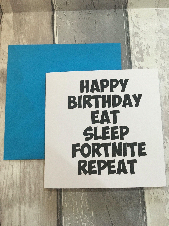 Fortnite Birthday Card Fortnite Card Chug Mug Slurp Juice