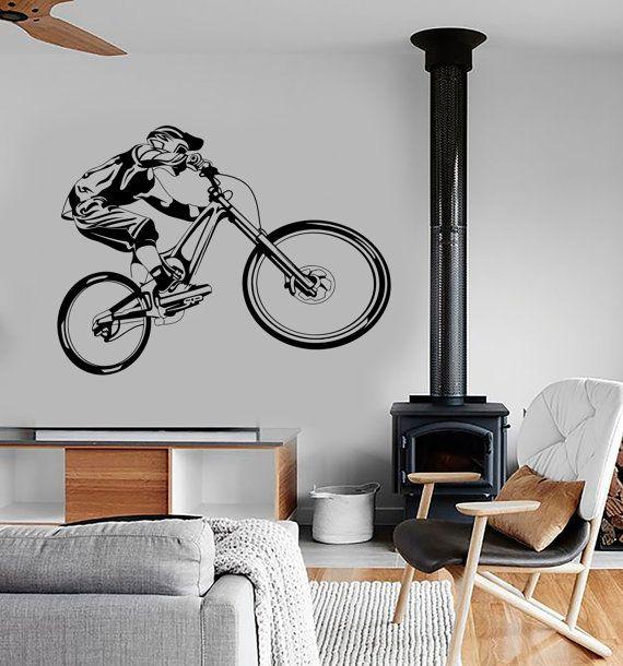 wall vinyl decal mountain bike extreme sports biking bmx bicycle