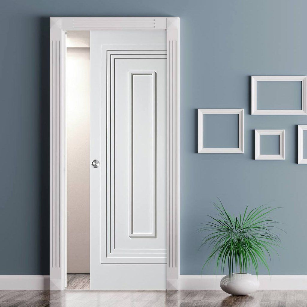 Single Pocket Atlanta White Primed Flush Door Flush Doors And Doors