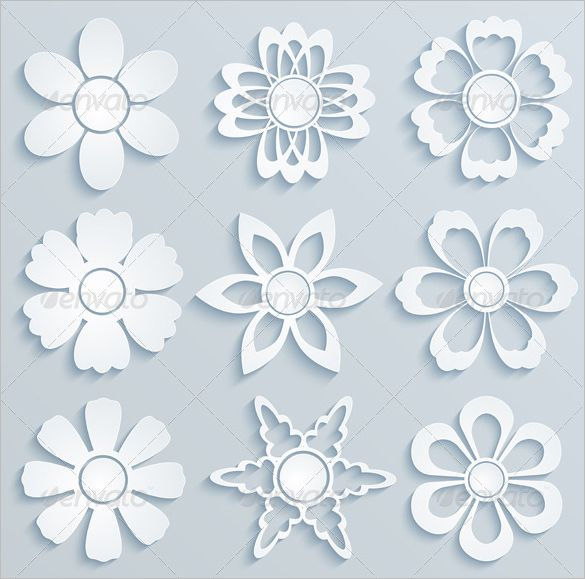 Paper flower templates pattern 17 paper flower templates free by ramcreativ paper flowers set of paper ornaments mightylinksfo
