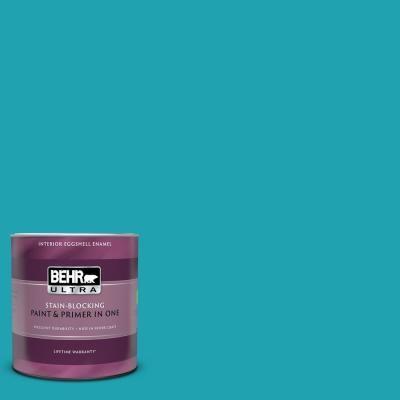 Behr Ultra 1 Qt 510b 6 Blue Jewel Extra Durable Eggshell Enamel Interior Paint Primer 275304 The Home Depot Ralph Lauren Paint Ralph Lauren Behr