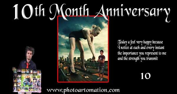 Anniversary Gift For Friend From Photo 10 Month Collage