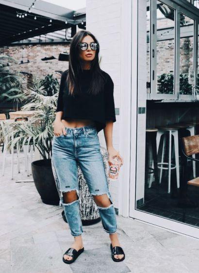 20 Ways To Wear Women's Slide Sandals This Summer – Society19