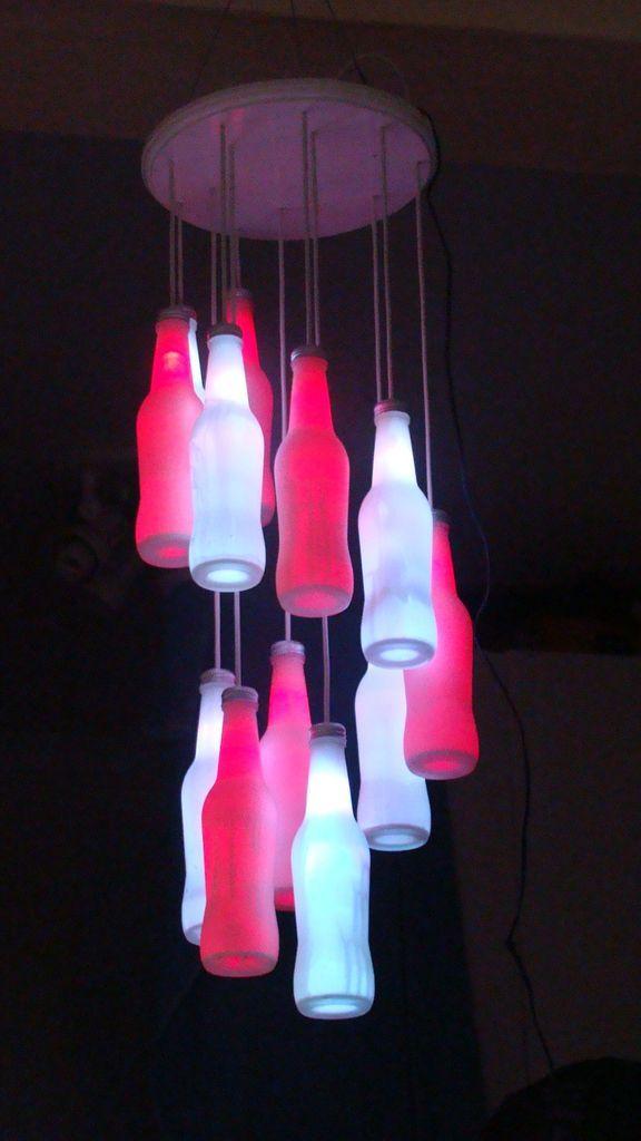 Led chandelier pinterest bottle chandelier chandeliers and bottle led bottle chandeliers by arduino duemilanove aloadofball Images