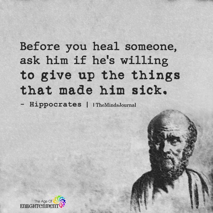Before You Heal Someone