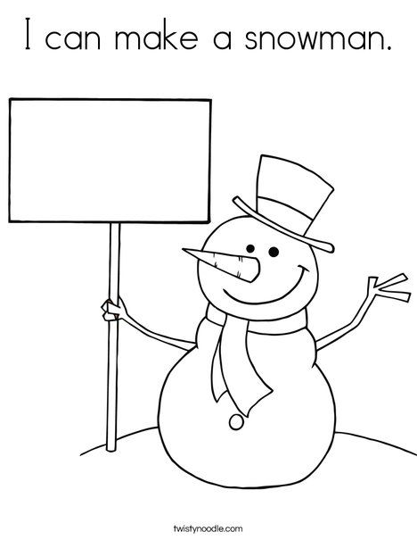 I Can Make A Snowman Coloring Page Snowman Coloring Pages Merry Christmas Coloring Pages Christmas Coloring Pages