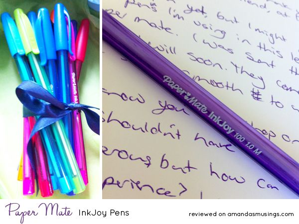 Loving these super smooth InkJoy pens from Paper Mate! Fab colours too! #stationery reviewed on www.amandasmusings.com