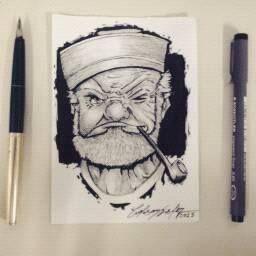 Popeye  / By Celson KIsler - Kisler Art Stock