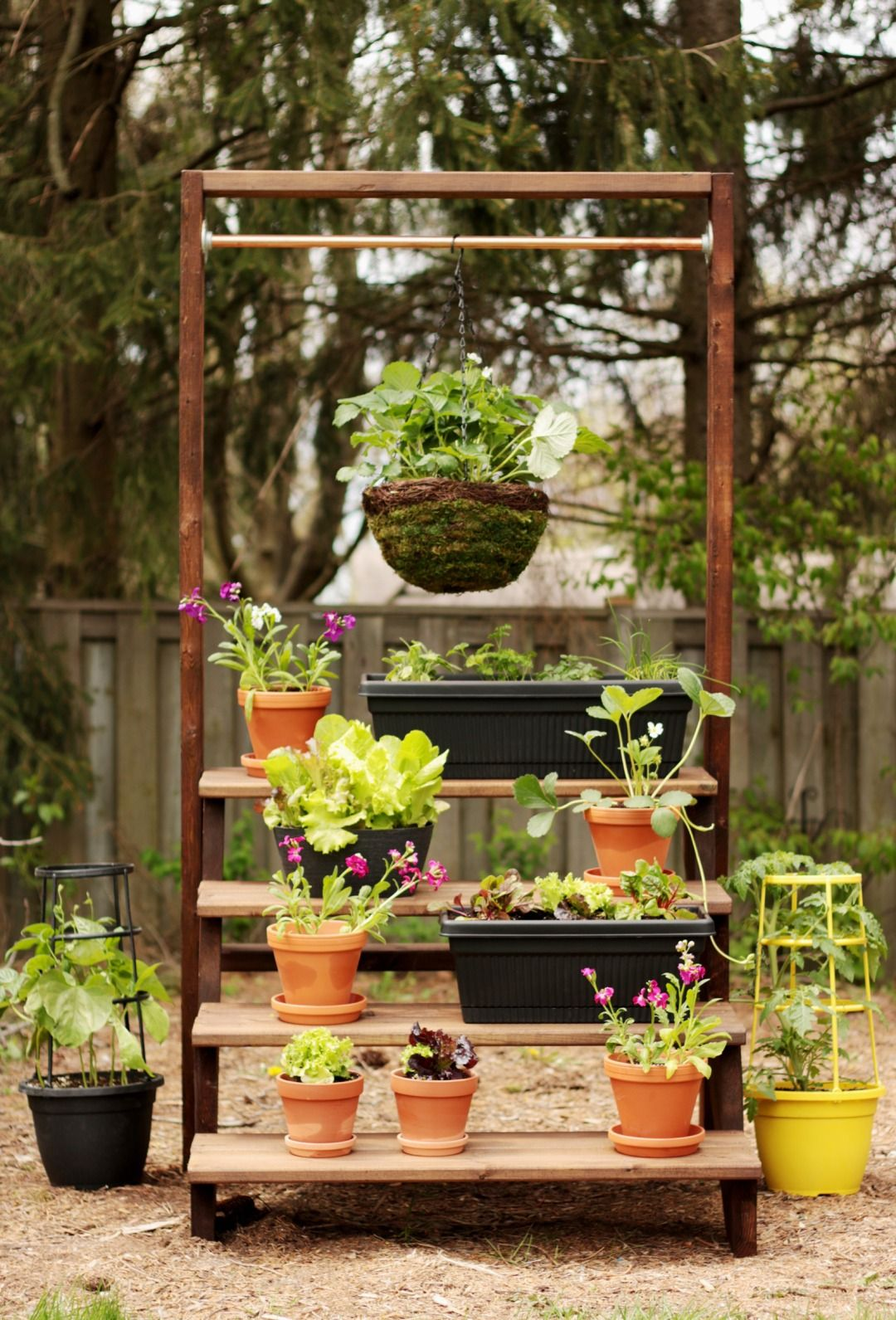 7 Steps To A DIY Staircase Garden For Your Patio. Hanging BasketsHanging  Basket StandThe ...