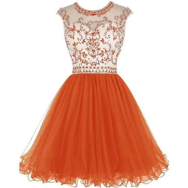 37c0bdc58642 Tideclothes ALAGIRLS Short Beading Homecoming Dress Tulle Prom Dress... (98  AUD)