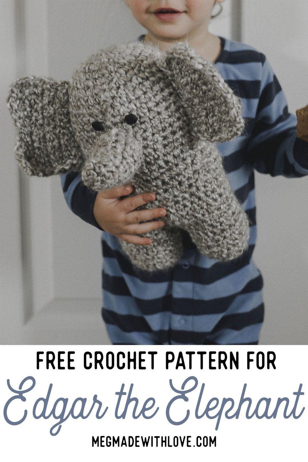 Free Crochet Pattern for Edgar the Elephant | Crochet kids ...