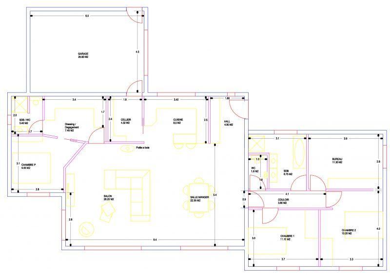 Avis Maison plain-pied env140m² 1ère construction (19 messages - plan petite maison plain pied