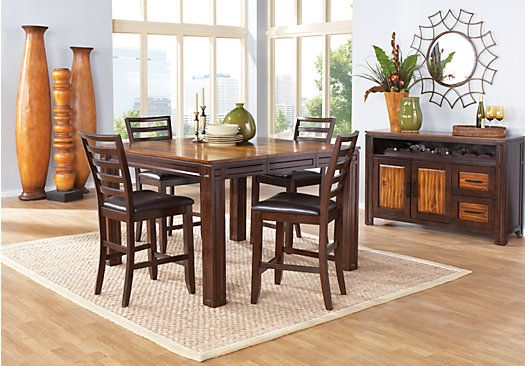 Shop For A Adelson 5 Pc Counter Height Dining Room At Rooms To Go. Find