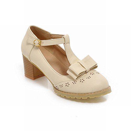 58731c150fff Carol Shoes Women s Sweet Cute Mid Heel Bows T-strap Court Shoes  Amazon.co. uk  Shoes   Bags