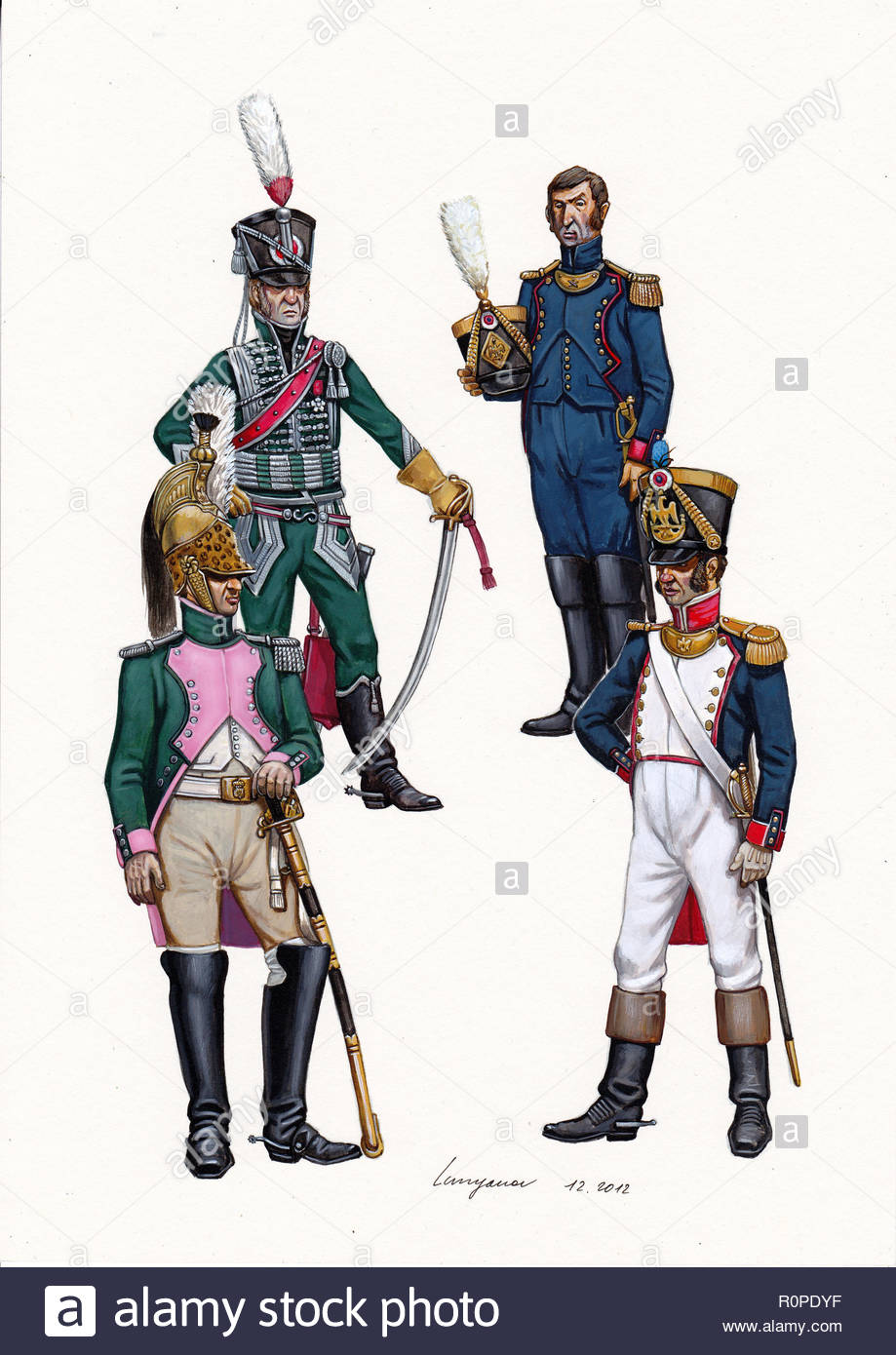 Battalion Commanders 1804 1812 Stock Photo In 2020 Napoleonic Wars American Revolutionary War Napoleon