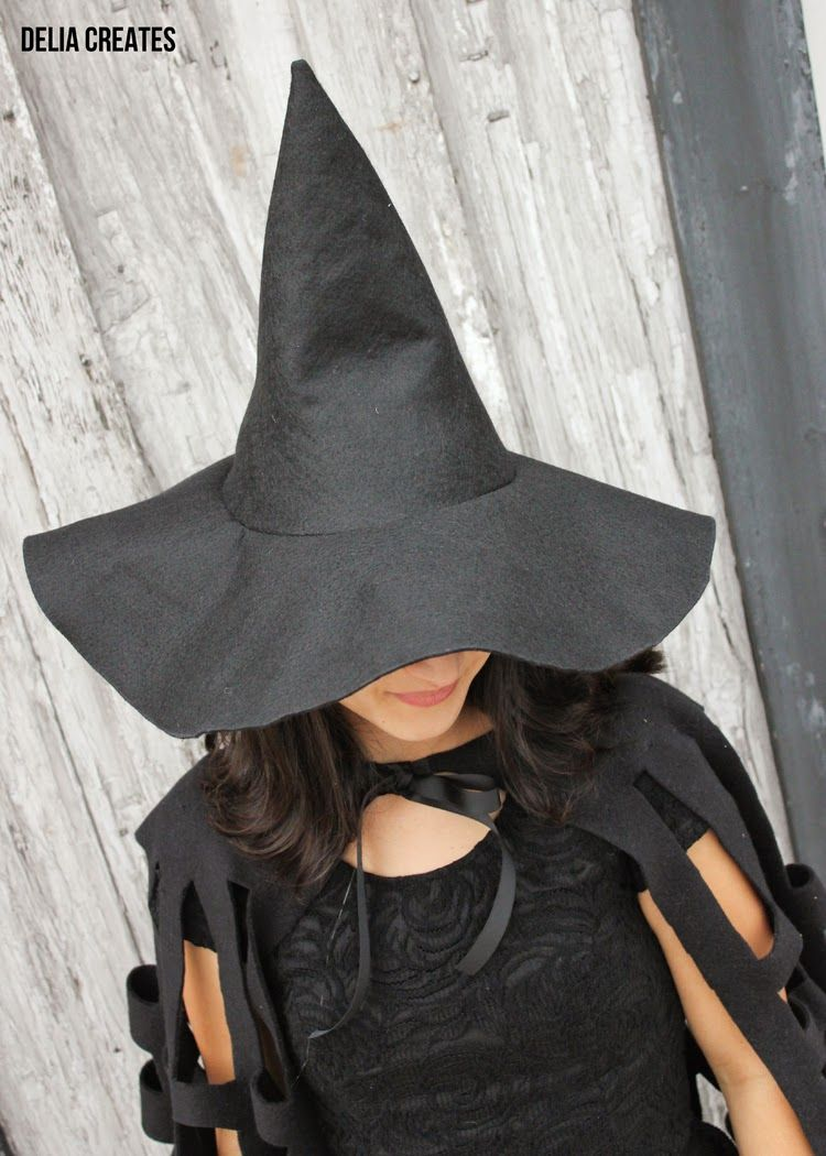 Make A Witch Hat In Any Size Tutorial Witch Hat Diy Witch Diy Witch Hat