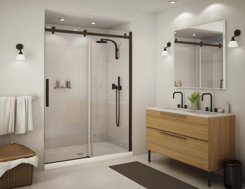 Maax Halo 56 1 2 59 Sliding 2 Panel Shower Door At Menards