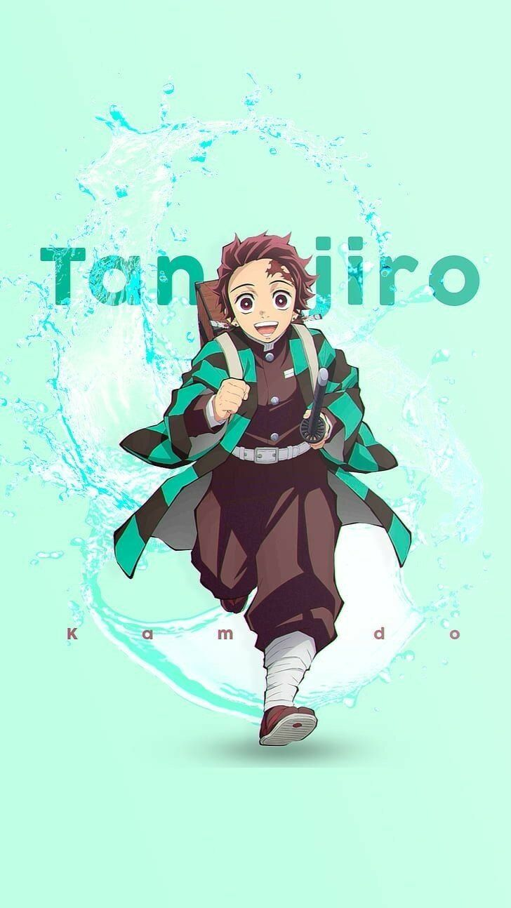 Save Follow Tanjiro Kamado Demon Slayer Kimetsu No Yaiba Anime Demon Character Wallpaper Anime Canvas
