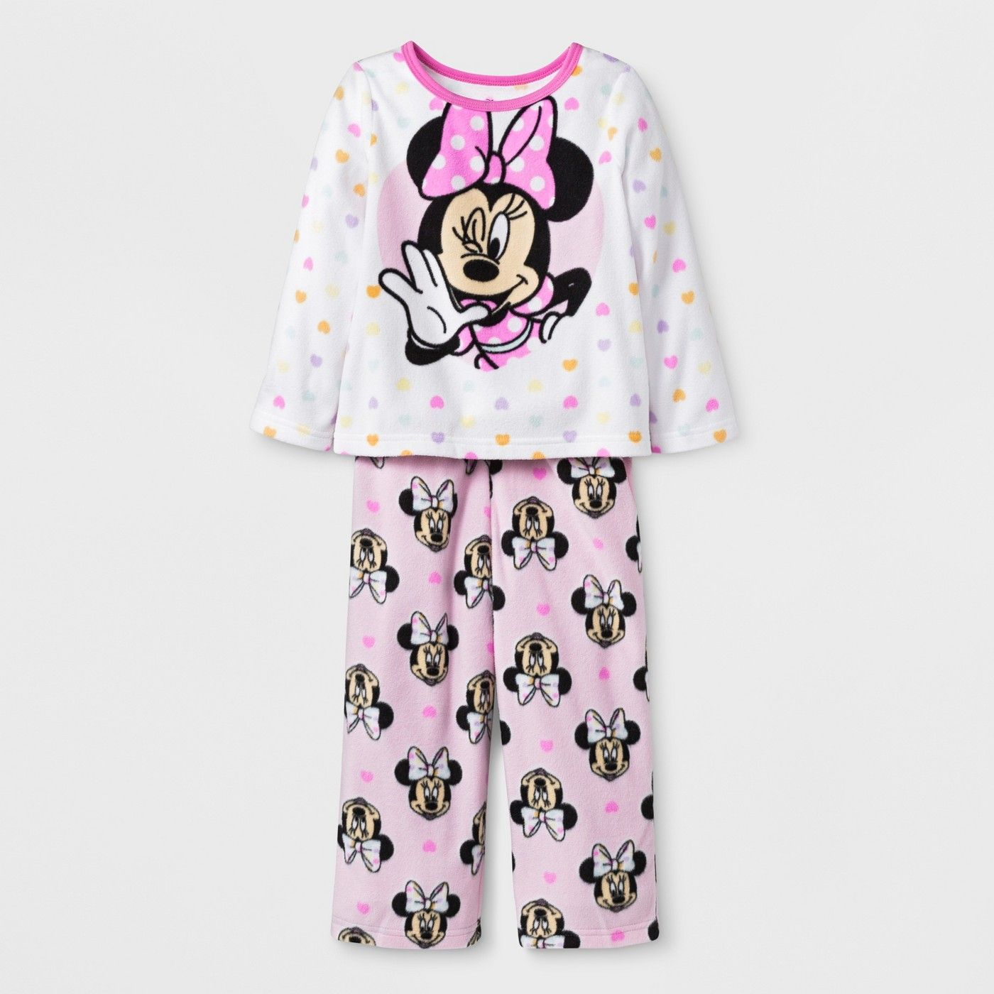 Toddler Girls  Minnie Mouse 2pc Fleece Pajama Set - White 2T  Minnie ... d3800cdf4