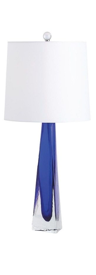 Table Lamps, Designer Blue Art Glass Table Lamp, so beautiful, one of over 3,000 limited production interior design inspirations inc, furniture, lighting, mirrors, tabletop accents and gift ideas to enjoy repin and share at InStyle Decor Beverly Hills Hollywood Luxury Home Decor enjoy & happy pinning