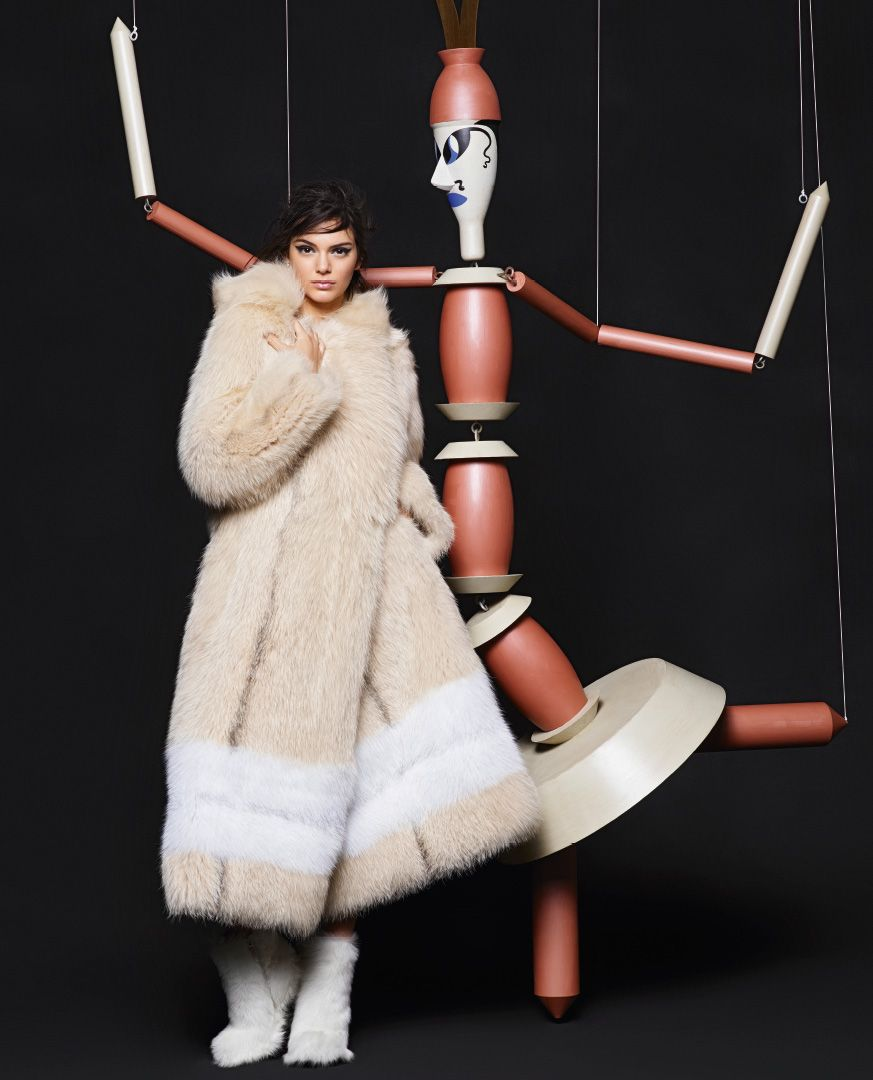 Kendall Jenner Lily Donaldson for Fendi Fall 2015 Campaign pictures