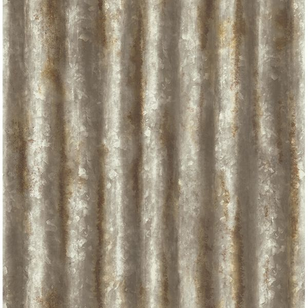 Industrial Texture Rust Corrugated Metal Wallpaper By A Streets Prints Metallic Wallpaper Corrugated Metal Brewster Wallcovering